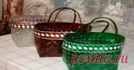 Плетем корзины из пластиковых бутылок Пошаговая инструкция с фото