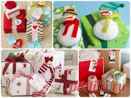 Как упаковать новогодний подарок своими руками?