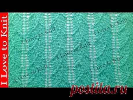 Ажурный узор мотыльки Вязание спицами со схемой и описанием