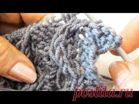 Жилет спицами / Часть 1 / Узор двухсторонняя Коса - Зигзаг /  How to knit a VEST Part 1