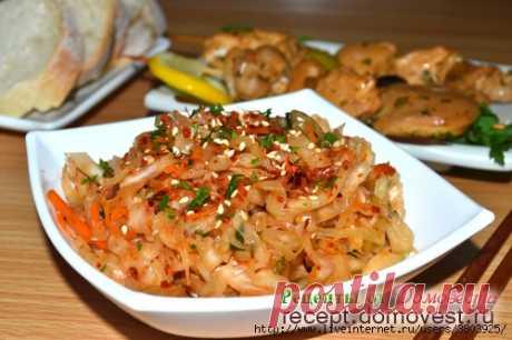 Кимчи из белокочанной капусты - быстрый и бесценный рецепт закуски, для любителей остренького!