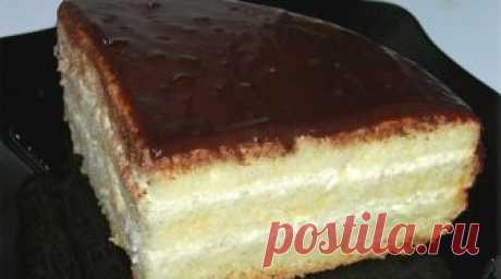 """Бисквитный торт """"Чародейка"""". Изумительный вкус, знакомый с детства!"""