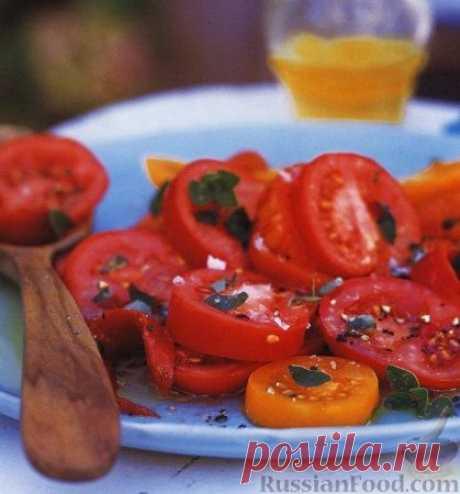Рецепт: Салат из помидоров и перца