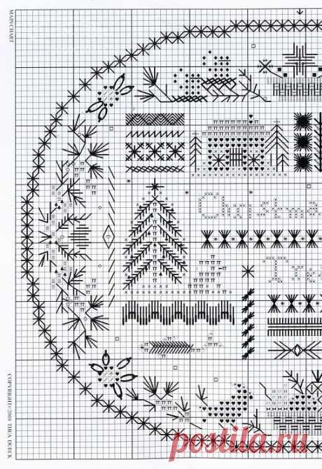 Gallery.ru / Фото #64 - маленькие новогодние вышивки х - anapa-mama