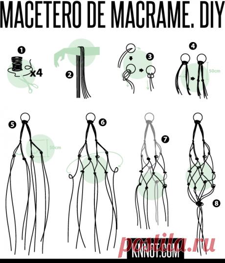CÓMO HACER UN MACETERO COLGANTE DE MACRAMÉ | KNNOT.COM