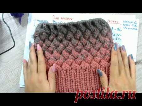 #10 [Шапки онлайн] Расчеты на шапку плетенкой и с градиентом. Прямой эфир с Instagram (Часть 1)