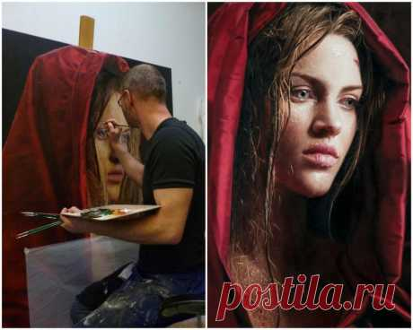 Немецкий художник Филипп Вебер создает гиперреалистичные женские портреты (фото)