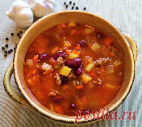 Томатный суп из фасоли с фаршем | Поделки, рукоделки, рецепты | Яндекс Дзен