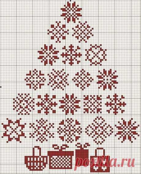 Зимние и Новогодние схемы для вышивки крестиком (много) — Рукоделие