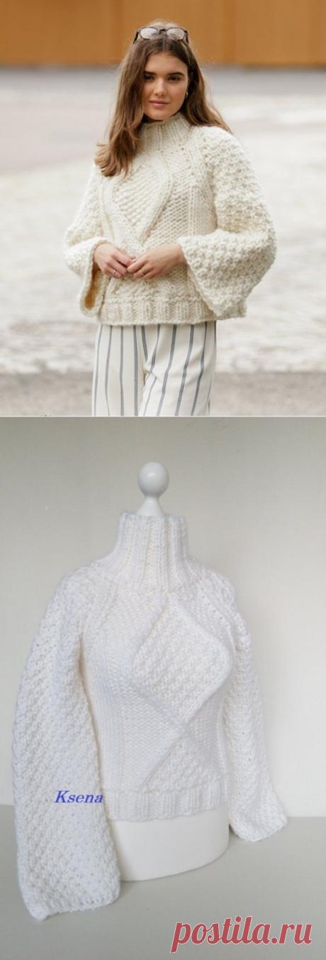 Knit sweater poncho Chunky knit sweater Boho knit sweater | Etsy