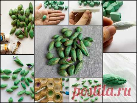 tutorial - Polymer clay beads textured with crepe paper | Flickr - Photo Sharing!