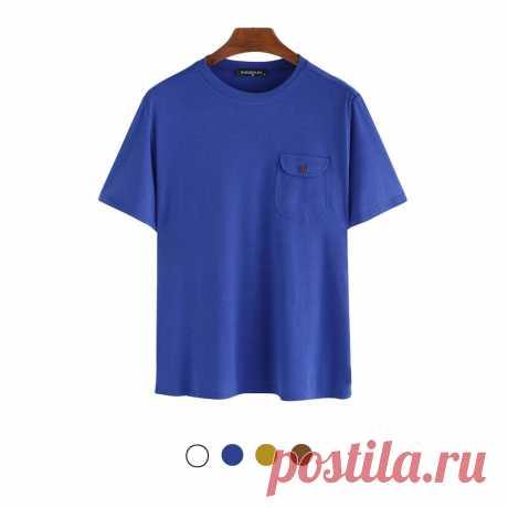 Men's crewneck t-shirt comfortable fitness short sleeve breathable summer tees hiking camping travel holiday Sale - Banggood.com