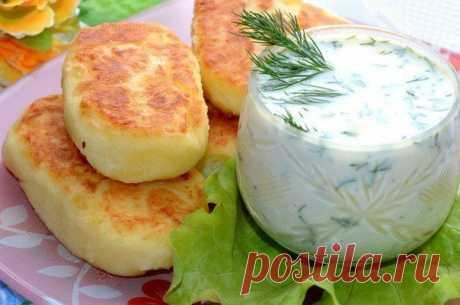 шеф-повар Одноклассники: Картофельные котлеты с соусом