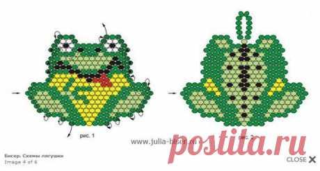 Бисерное творчество лягушка