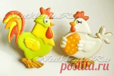Печенье «Петух и курочка»