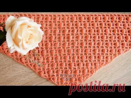 Простая шаль крючком Вязать легко и быстро Урок 221 Simple crochet shawl