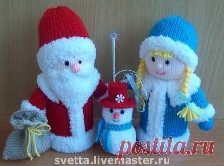 Knitted toys. The New Year's doll fairy tale from Svetlana Zabelina | razpetelka.ru