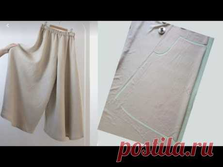 키 커보이는 A라인 플레어 치마 바지 만들기 How to make A-line flared skirts that look taller 패턴필요없이 원단에 직접그려보세요