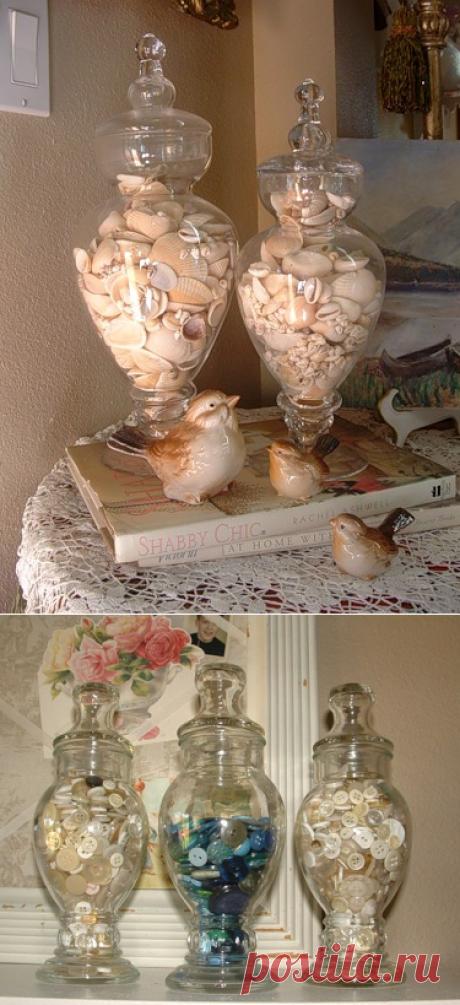 Декор из стеклянных банок - Домашний hand-made