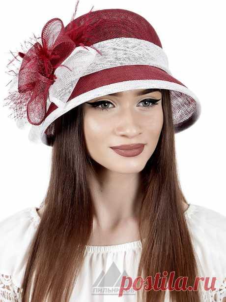 Шляпа Лилу - Женские шапки - Из соломки купить по цене 2841 р. с доставкой в Интернет магазине Пильников