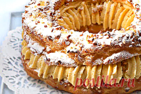 Нестареющая легенда: заварной торт Париж - Брест. 110 лет неизменного успеха   ChocoYamma   Яндекс Дзен