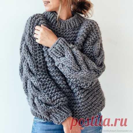 Вязаный свитер крупной вязки – заказать на Ярмарке Мастеров – H2L0JRU | Свитеры, Севастополь