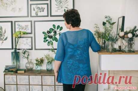 . Туника Первоцвет в филейной технике - Вязание - Страна Мам