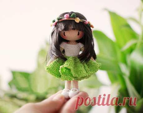 Кукла fairyfinfin амигуруми. Схемы и описания для вязания игрушек крючком!