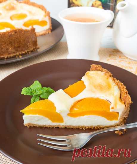 Заварной пирог с персиками | Вкусный блог - рецепты под настроение