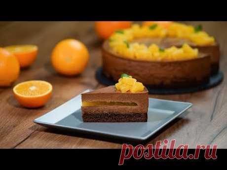 Шоколадно-апельсиновый муссовый торт