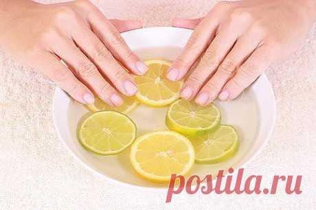 Маска для ногтей с йодом и лимонным соком .