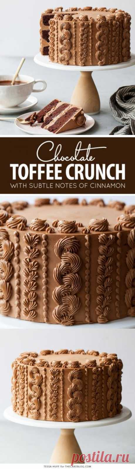 Chocolate Toffee Crunch Cake
