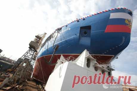 Король Арктики: Россия спускает на воду новый мощнейший в мире ледокол - РИА Новости, 22.09.2017