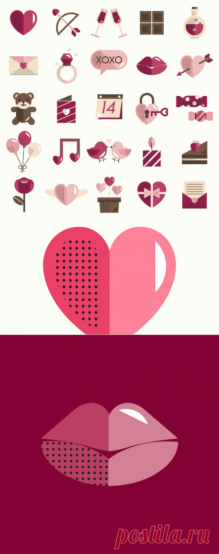 Набор иконок Валентина / rawpixel