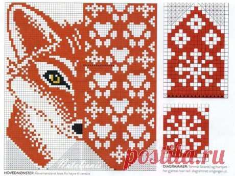 Варежки с лисичками