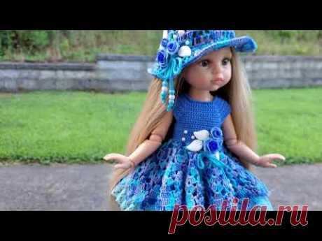 Платье крючком для куклы Паола Рейна