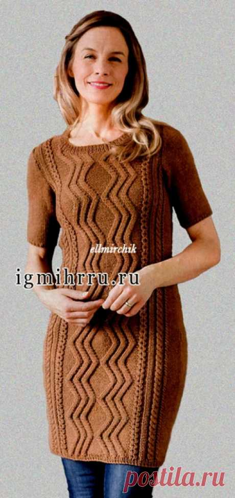 WARM DRESS-TUNIC of BROWN COLOUR. Spokes