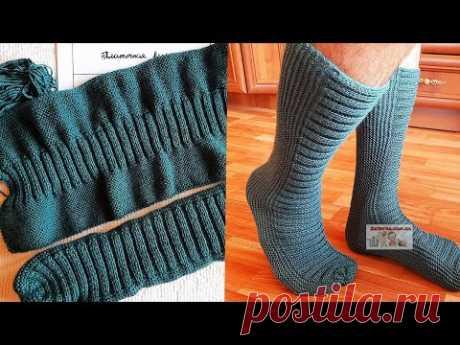 Мужские носки на двух спицах (+ВИДЕО) - Затейка.com.ua - рецепты вкусных десертов, уроки вязания схемы, народное прикладное творчество