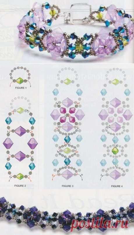 Плетение невероятно красивых браслетов из бисера — DIYIdeas