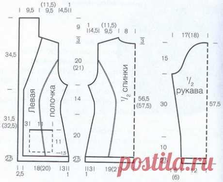 Пиджак выкройка 46 размер - Выкройка платья на большой размер от А. Корфиати