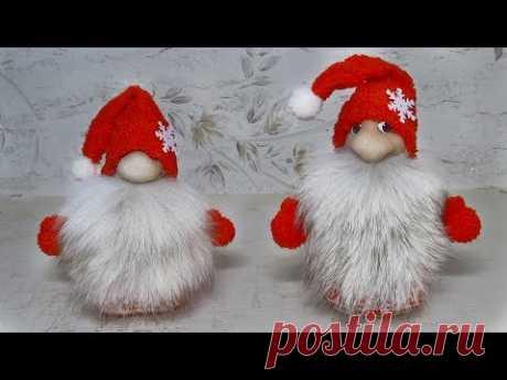 Рождественские гномы из носков своими руками. Очень простой способ изготовления.