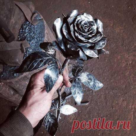 Прекрасная кованая роза
