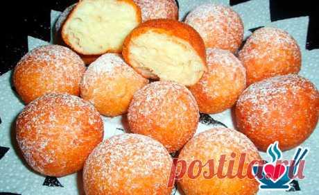 Творожные Пончики Шарики в сахарной пудре