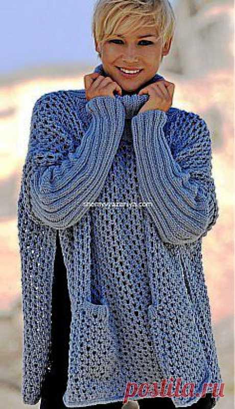 Пончо-свитер