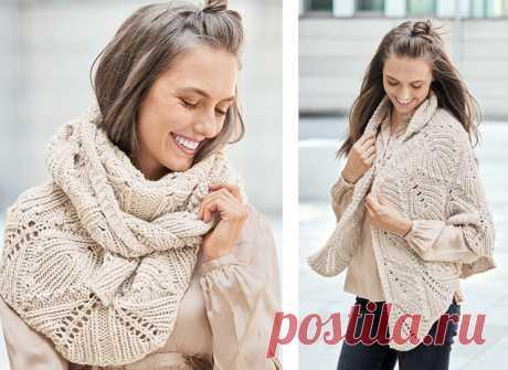 Современная и стильная шаль (Вязание спицами) – Журнал Вдохновение Рукодельницы