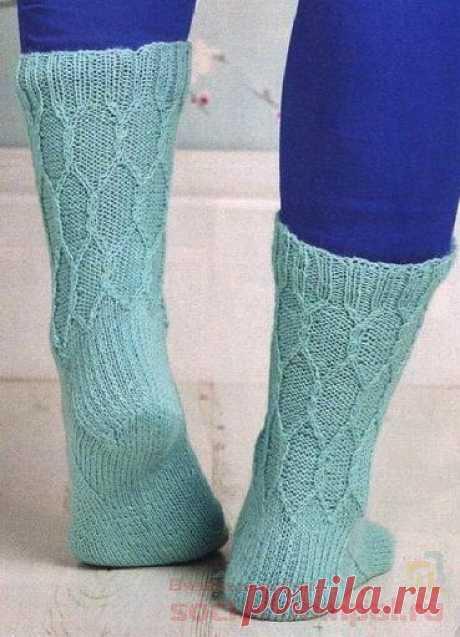 Вязаные носки «Something Blue»   ВЯЗАНЫЕ НОСКИ