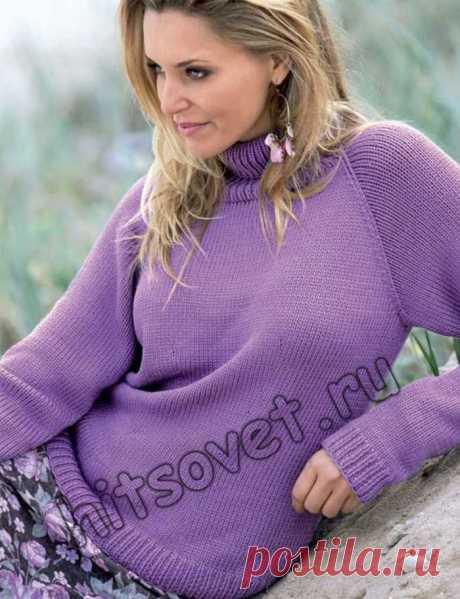 Пуловер реглан спицами женский - Хитсовет Пуловер реглан спицами женский. Классическая модель женского пуловера реглан с пошаговым бесплатным описанием для начинающих вязальщиц.