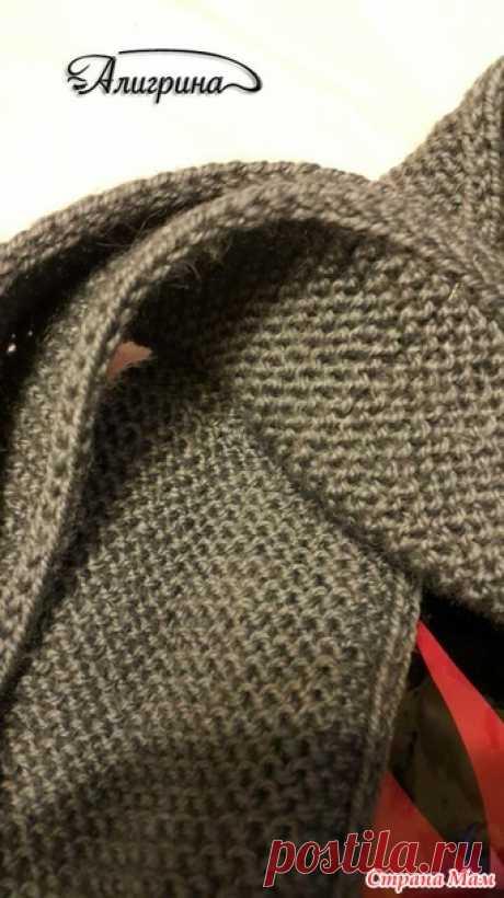 Как сделать кромку шарфа двусторонней, плотной и красивой.