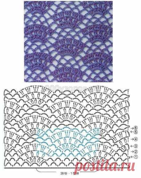 Схемы узоров для рукодельниц в копилочку.Вязание крючком.Простые японские схемы. | Саблина | Яндекс Дзен