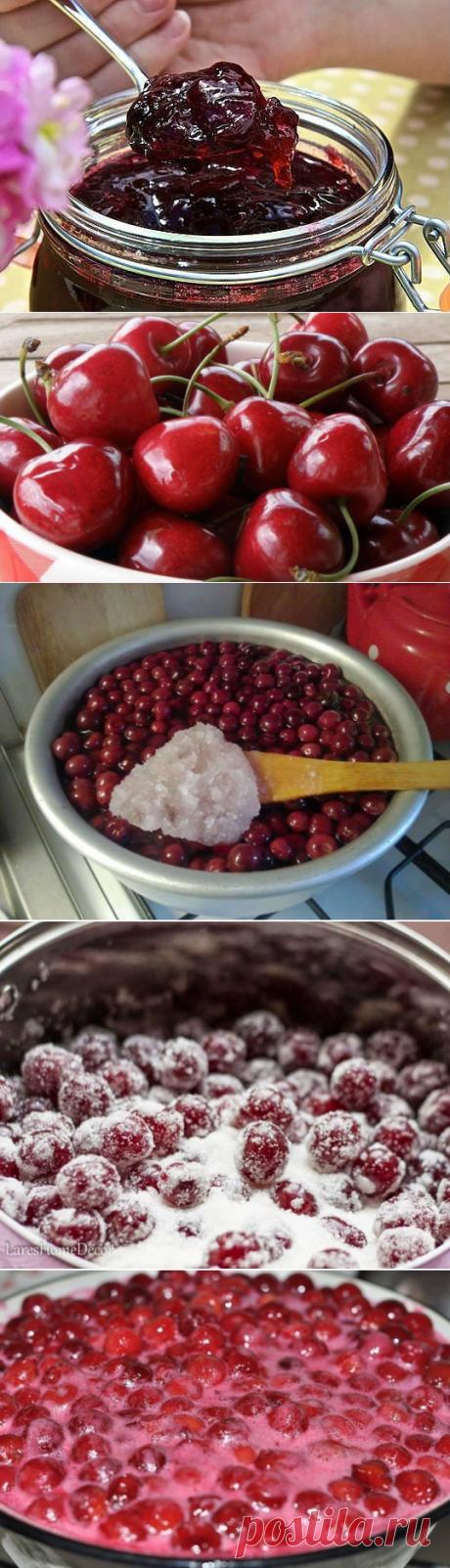 Вишня консервированная в желе — нежнее варенья/ Ягоды совсем, как свежие